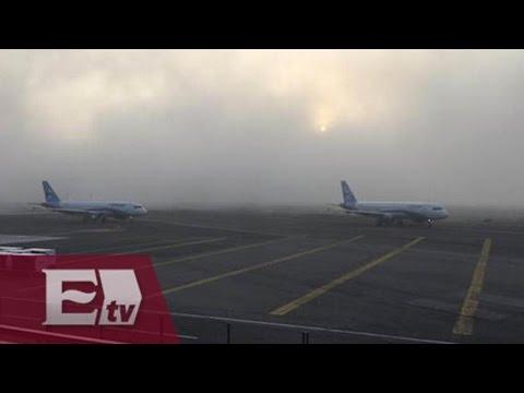 Suspende operaciones por banco de niebla aeropuerto capitalino