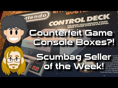 Counterfeit NES & SNES Console Boxes - #CUPodcast Scumbag Seller of the Week!