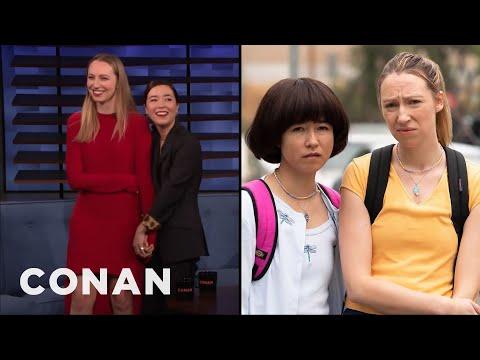 How Maya Erskine & Anna Konkle Transformed Into Awkward Teens | CONAN on TBS