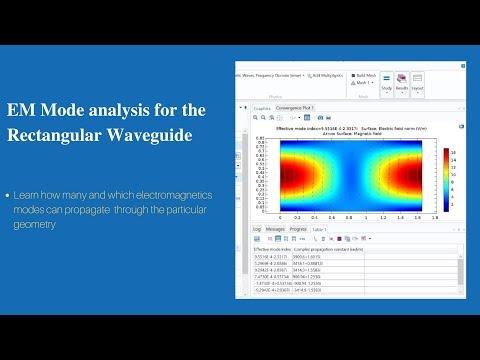 EM Mode Analysis For The Rectangular Waveguide | COMSOL Multiphysics Tutorial-5