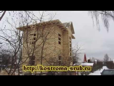 Дом из бруса в два этажа.