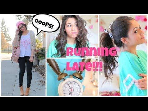 Hair - Which outfit and Hairstyles were YOUR favorite!? let me know in the comments :) Thumbs up for more school/running late videos! Hope you guys enjoyed these ha...