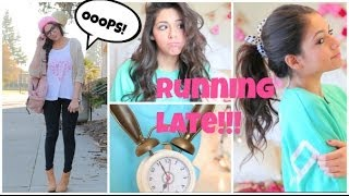Running Late For School ⎜Quick Hair fixes, Makeup, & Outfit Ideas! - YouTube