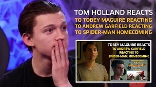 Video Tom Holland reacts to Tobey Maguire reacting to Andrew Garfield reacting to Homecoming (Parody) MP3, 3GP, MP4, WEBM, AVI, FLV Oktober 2017