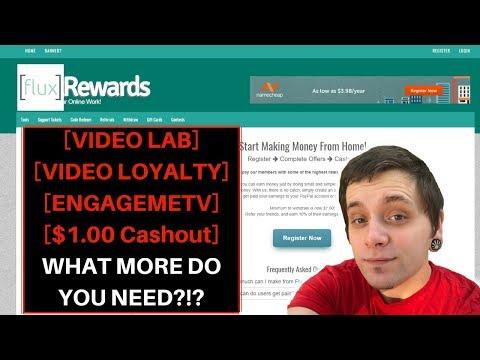 FLUXREWARDS | PASSIVE VIDEO EARNINGS | $1.00 MINIMUM CASHOUT!?!