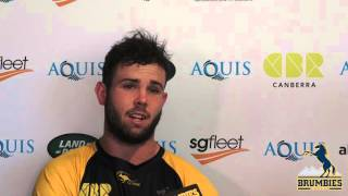 Robbie Coleman on the Brumbies Pre-Season   Super Rugby Video Highlights