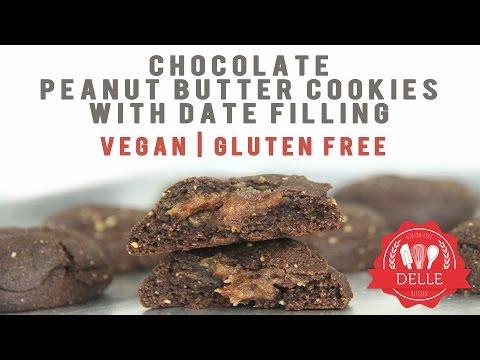 #ResepRamadhan Vegan, Gluten Free, Chocolate, Peanut Butter Cookies with Date Filling (видео)