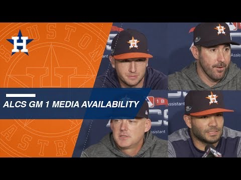 Video: ALCS Gm1: Astros look ahead to Game 1 from Fenway