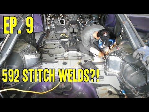 Project 240 - Le Drift Car II | Ep. 9 - 592 Stitch Welds (ノ◕ヮ◕)ノ (видео)