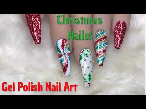 Gel nails - Christmas Nails  Gel Polish Nails  Nailchemy