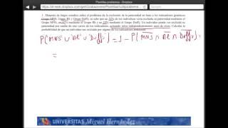Umh2072 2013-14 Unidad 2 Conceptos De Probabilidad Y Test De Diagnóstico. Problema 1