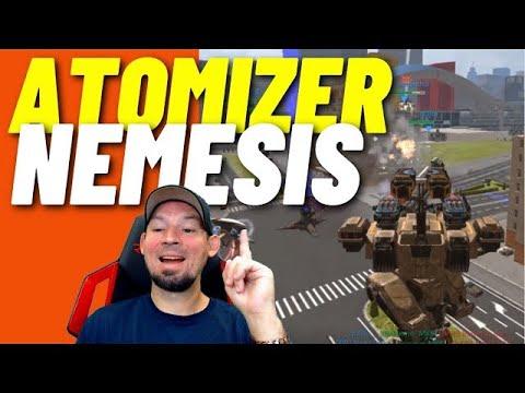 War Robots: Atomizer Nemesis,  Best nemesis weapons ??