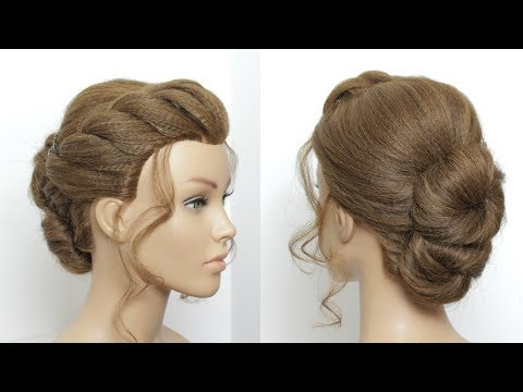 Easy Updo With French Rope Braid. Hairstyles For Long Medium Hair