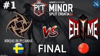 В НАТУРЕ ФИНАЛ! | NIP vs EHOME #1 (BO5) | GRAND FINAL | Dota PIT MINOR 2019