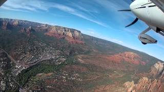 Scenic Flight Over Sedona, AZ - GoPro HD Hero 2 On The Wing Of A Cirrus SR20