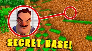 HOW TO FIND HELLO NEIGHBOUR'S SECRET BASE! - Minecraft Secret Base