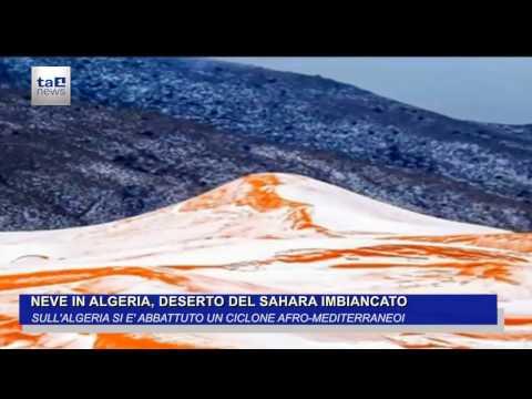 NEVE IN ALGERIA, DESERTO IMBIANCATO