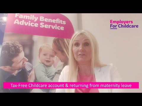 Opening a Tax-Free Childcare account during maternity leave