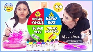 Çarkıfelekten Ne Çıkarsa Slime Challenge Kuru Buz Slaym Eğlenceli Çocuk Videosu Dila Kent