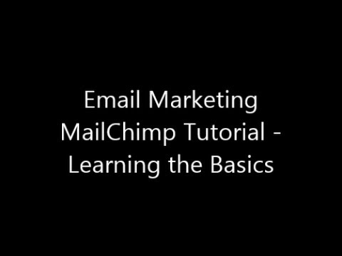 mailchimp - This video explains the basics of MailChimp and why you need this Free, Amazing software for your email marketing campaigns. I've also created a presentation...