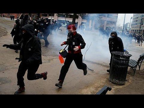 ΗΠΑ: Σοβαρά επεισόδια με διαδηλωτές στο παρασκήνιο της ορκωμοσίας Τραμπ