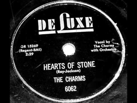 Charms - Hearts Of Stone, 1954 Deluxe 78 record.