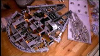 Milenium Falcon LEGO TIme Lapse (BoingBoingTV)