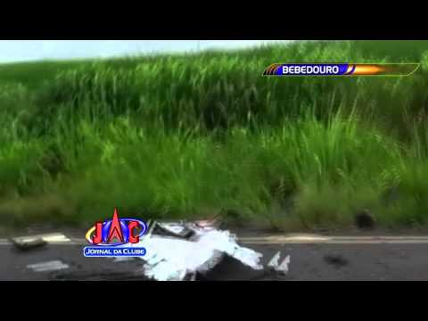 Acidente Fatal na Rod. Armando Salles Oliveira em Bebedouro - Jornal da Clube 2ª Edição (30/12/2015)