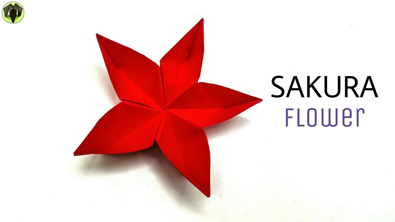 Origami flower diy tutorial paperfolds origami arts and crafts sakura flower diy modular origami tutorial mightylinksfo
