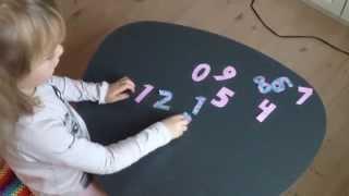 Lær tøl. Her telja vit frá 1 til 10 á føroyskum. Barnatilfar til børn at læra.