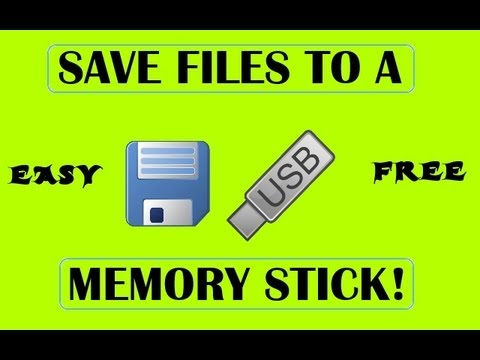 How to save files to a memory stick (EASY!)