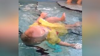 Mom Defends Video Showing 6-Month-Old Learning to Swim