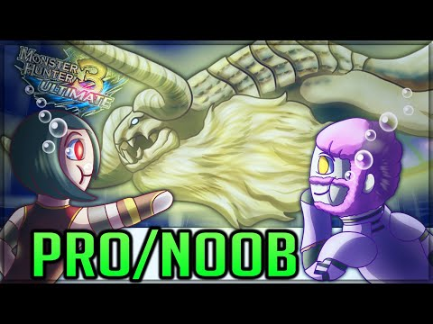 GOLDEN GOD OF THE DEEP - Pro and Noob VS Monster Hunter 3 Ultimate! #proandnoob #mh3u
