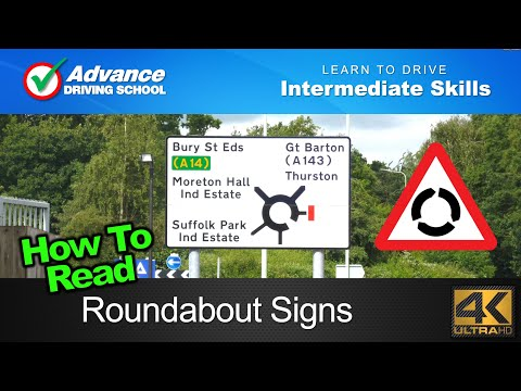 How To Read Roundabout Signs     Learn to drive: Intermediate skills