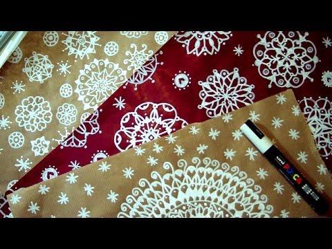 fai da te: realizzare carta da regalo con tecnica del mandala