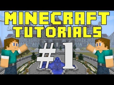Minecraft Tutorials E01: How To Survive The First Night