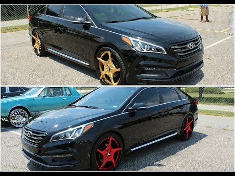 Veltboy314 - Hyundai Sonata on Brushed Red/Gold 22