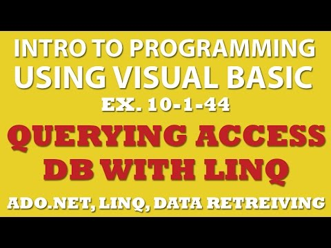 Visual Basic: Querying Movies Database with MS Access and Linq (Ex 10-1-44)