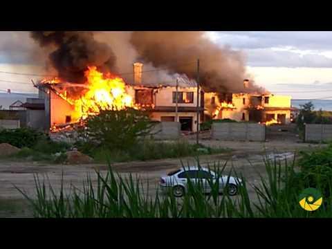 Последствия обстрела села Бердянское