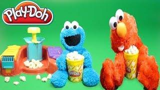 Cookie Monster Play Doh Poppin' Movie Snacks Popcorn Play Doh Movie Treats