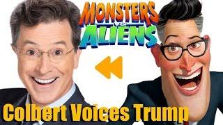 Stephen Colbert voices President Trump!