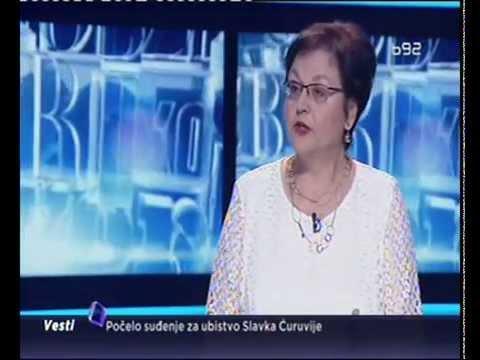 Гордана Чомић у емисији Кажипрст ТВ Б92 (1.6.2015)