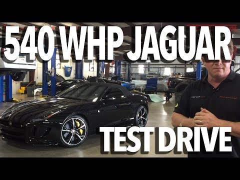 540 WHP Jaguar F-Type R Test Drive with John Hennessey