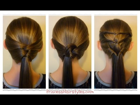 3 Quick and Easy Ponytails! Back-To-School Hairstyles