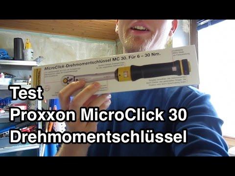 Test Proxxon Drehmomentschlüssel MicroClick 30 S Micro Click MC 30    Drehmomentschlüssel Fahrrad