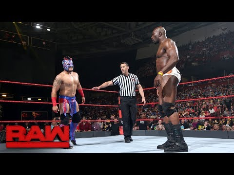 Kalisto Vs. Titus O'Neil: Raw, May 29, 2017