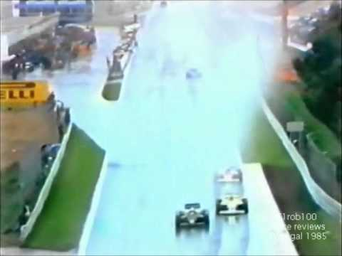 ayrton senna: prima vittoria in f1 - estoril 1985