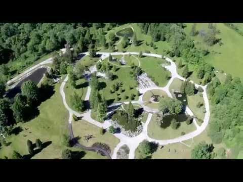 Aerial view of the Botanical Garden in Tatranska Lomnica