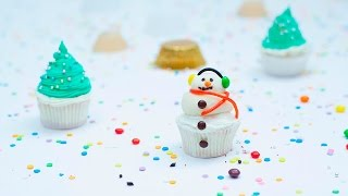Cupcakes de muñeco de nieve