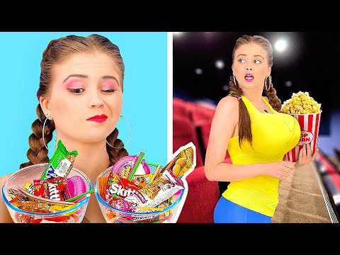 HOW TO SNEAK SWEETS INTO THE MOVIES! || Funny Tiktok Ideas by 123 Go! Gold
